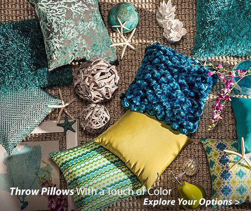 Throw Pillows With a Touch of Color Explore Your Options