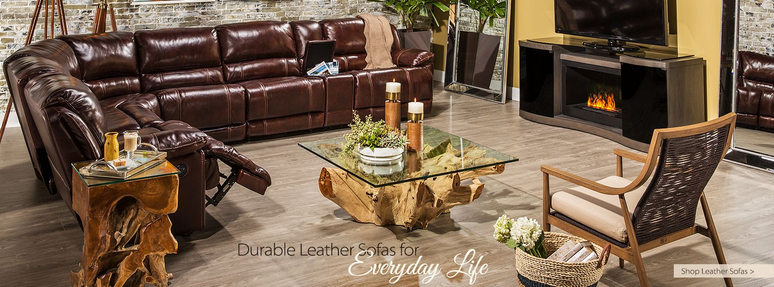 Durable Leather Sofas for Everyday Life Shop Leather Sofas