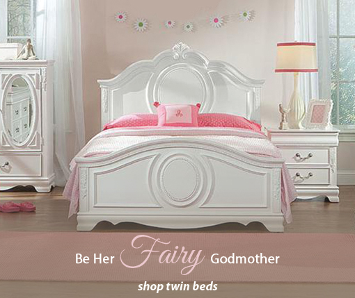 Be her Fairy Godmother, Shop Twin Beds