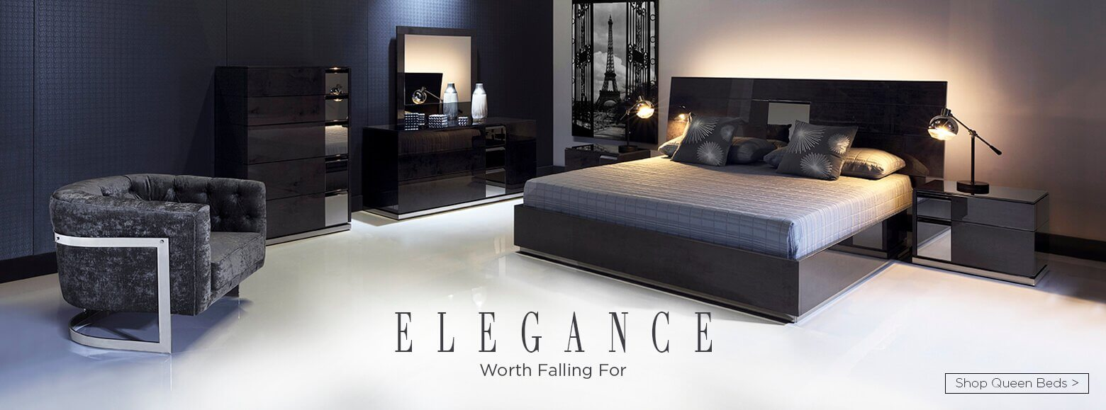 Elegance worth falling for. Shop Queen beds.