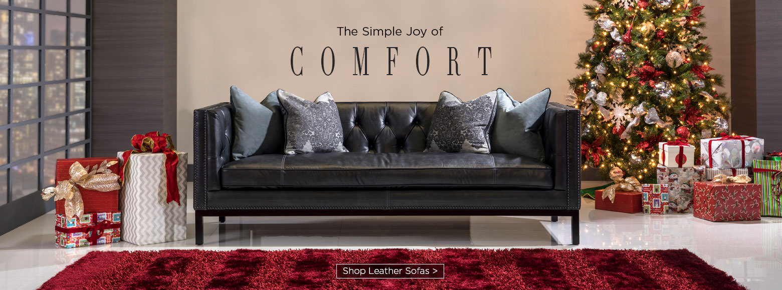 The simple joy of comfort. Shop leather sofas.