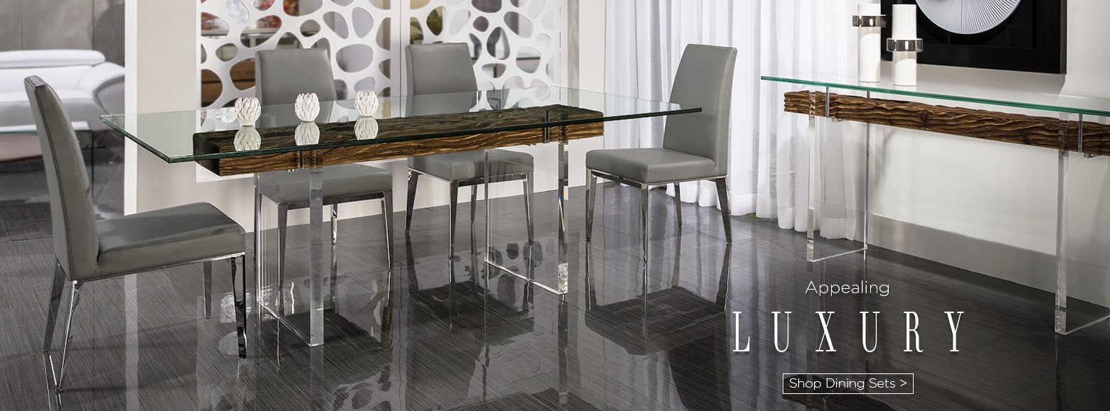 Appealing luxury. Shop dining Sets.