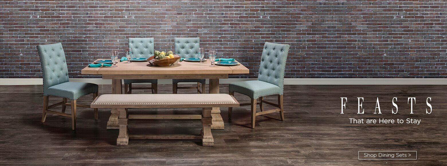 Feasts that are here to stay. Shop dining sets.