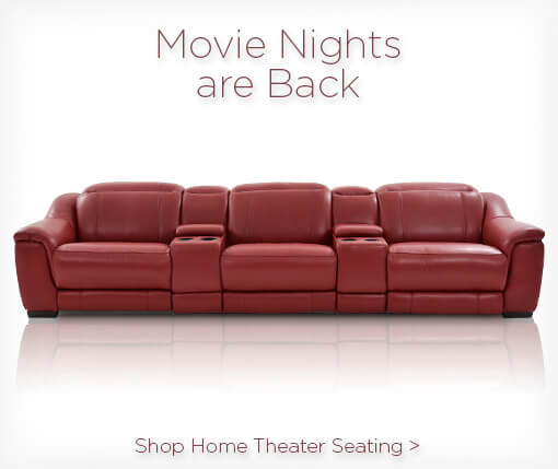 Movie nights are back. Shop home theater seating.