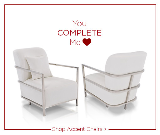 You Complete me Love Shop Accent Chairs