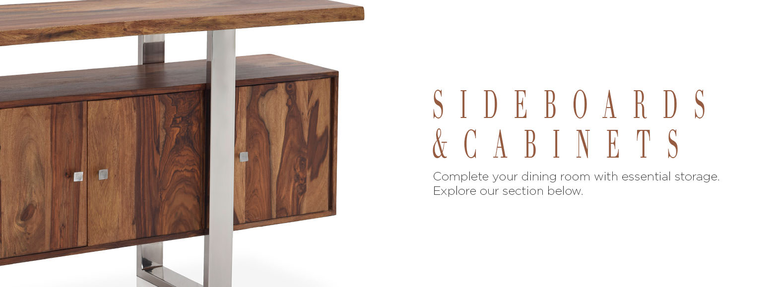 Sideboards Servers and China Cabinets. Complete your dining room with essential storage. Explore our section below.