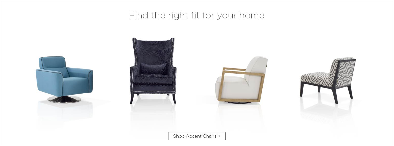 Find the right fit for your home. Shop accent chairs.