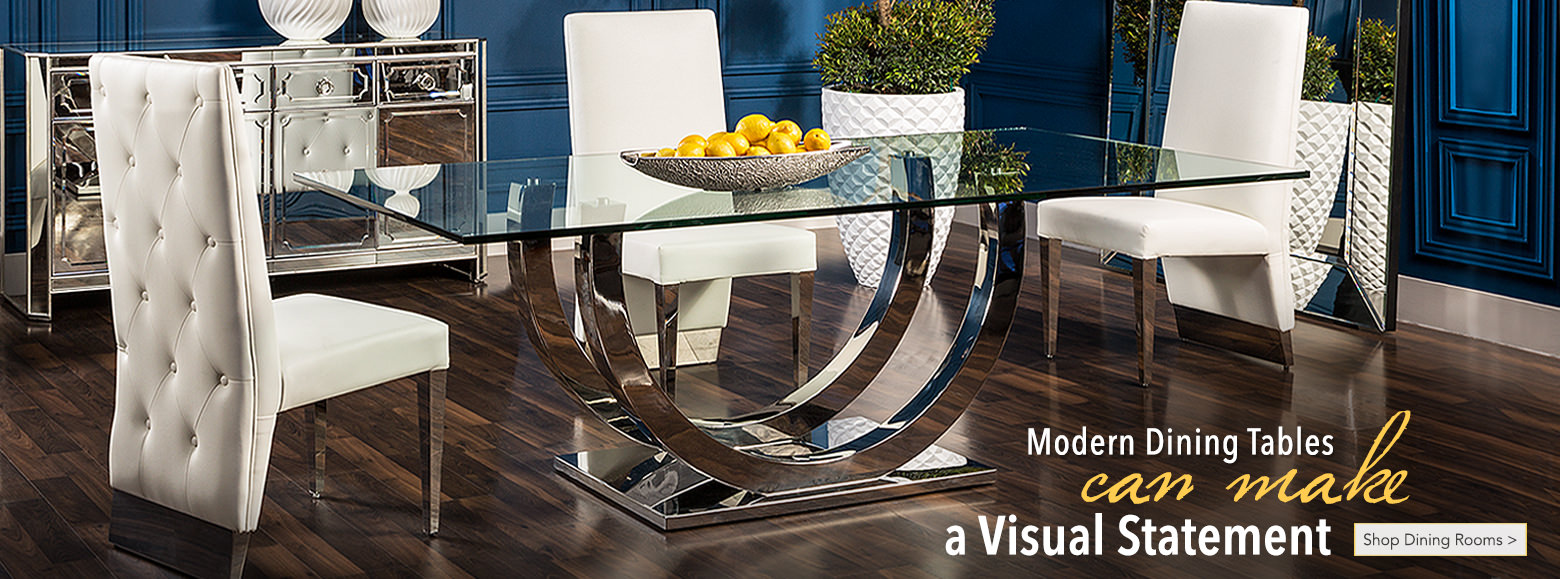 Modern Dining Tables can make a Visual Statement Shop Dining Rooms