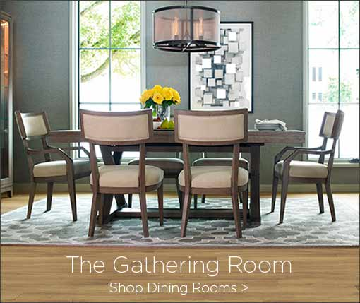 The gathering room. Shop dining rooms.