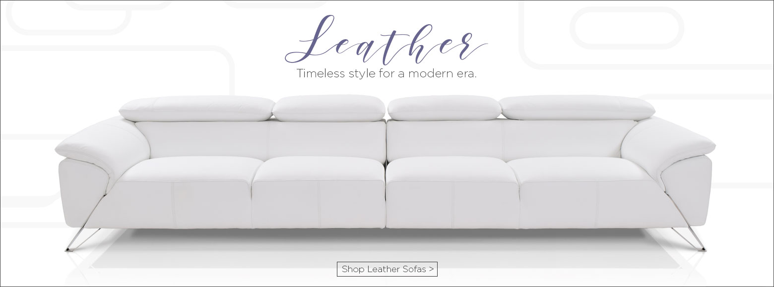 Leather. Timeless style for a modern era. Shop leather sofas.