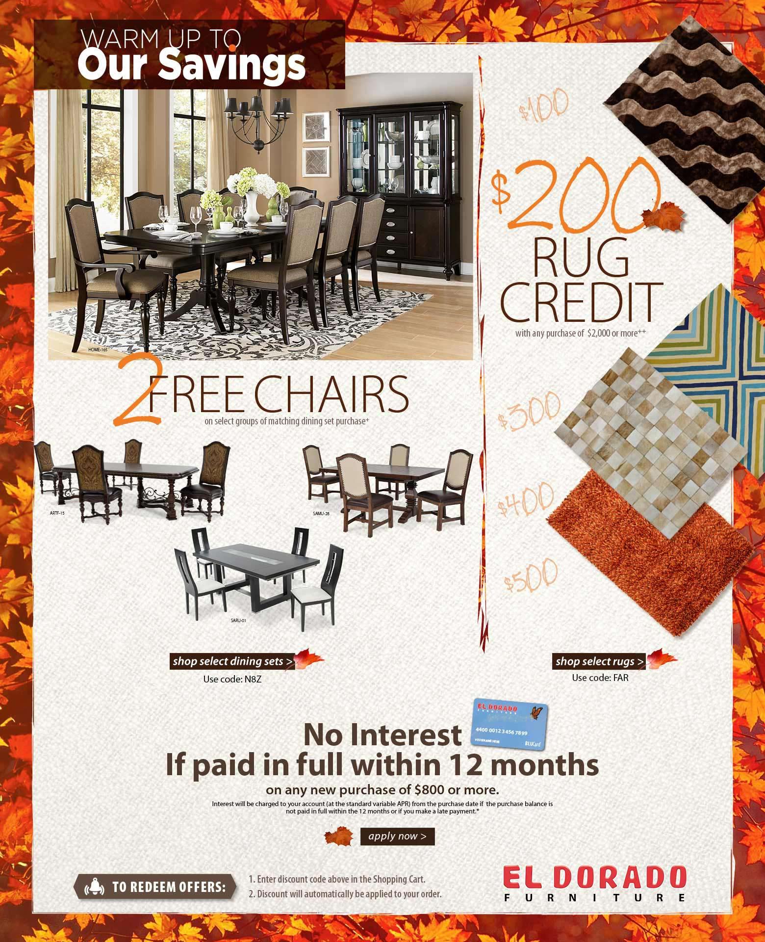 El Dorado Furniture Offers